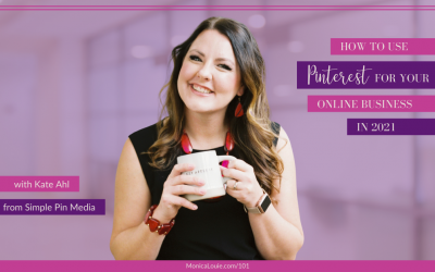How to Use Pinterest for Your Online Business in 2021 with Kate Ahl from Simple Pin Media