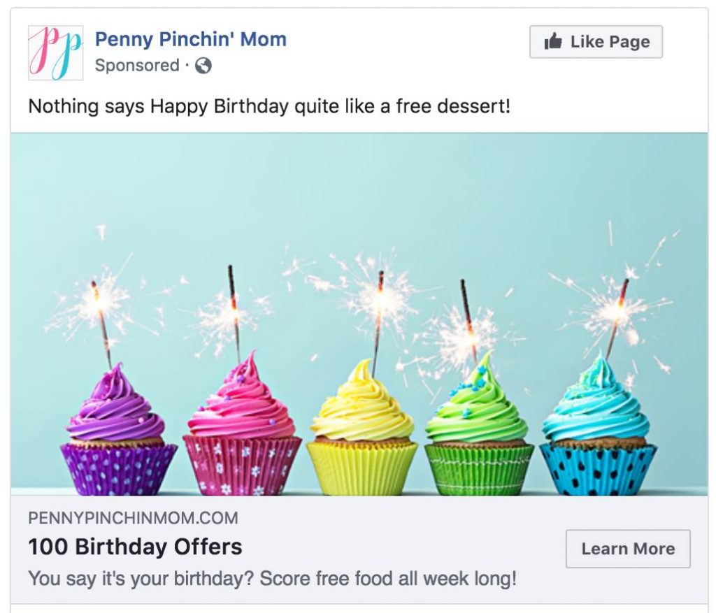 PennyPinchinMom facebook ad results
